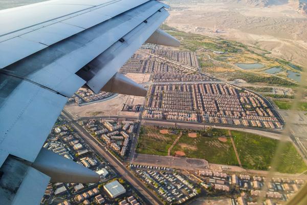 Landeanflug in Las Vegas
