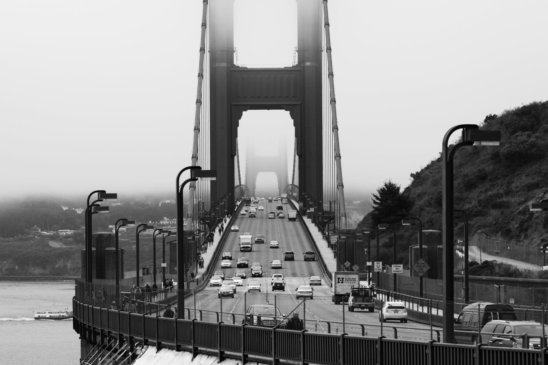 San Francisco – Golden Gate Bridge schwarz / weiß