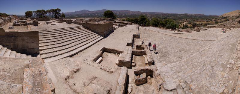 Palast von Phaistos Panorama