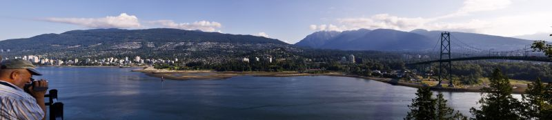Lions Gate Bridge Panorama 2