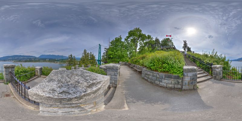 Lions Gate Bridge Panorama