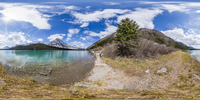 Waterfowl Lakes Panorama