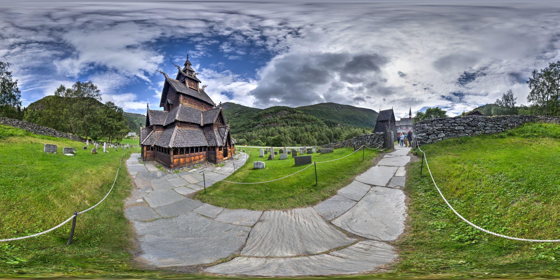 Stabkirche Borgund Panorama