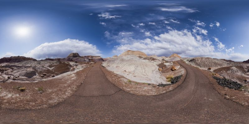 Petrified Forest – Blue Mesa Panorama